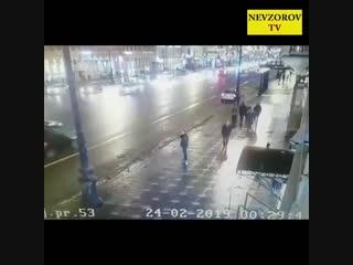 Страшная авария в Петербурге на Невском 24 февраля 2019