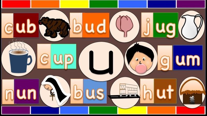 Phonics Short Vowel u | -ub words,-ud words,-ug words,-um words,-un words,-up,-us words,-ut words |