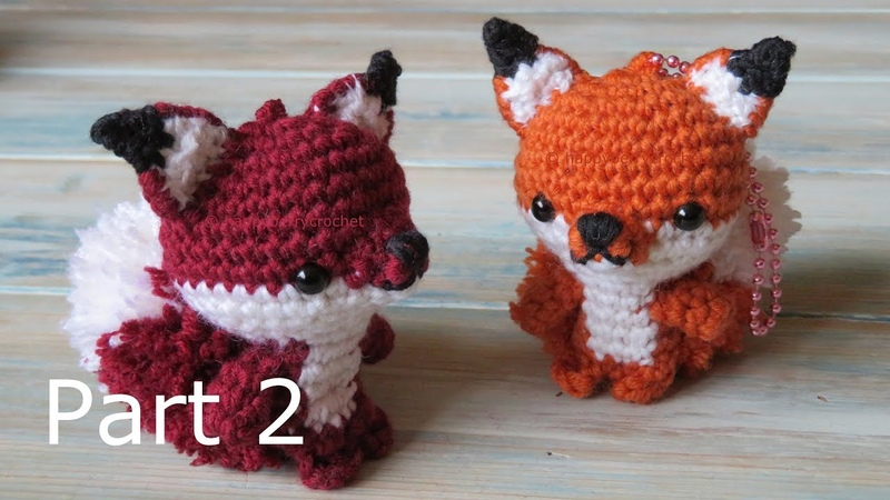 Amigurumi Fox Keyring How to Crochet Part 2