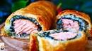 Пирог с Красной Рыбой, Хрустящий Сверху и Сочный Внутри. Нереально Вкусно