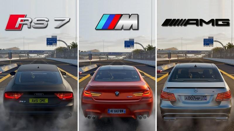 BATTLE ! | Audi RS7 vs BMW M6 vs Mercedes-Benz E63 S AMG | Forza Motorsport 7