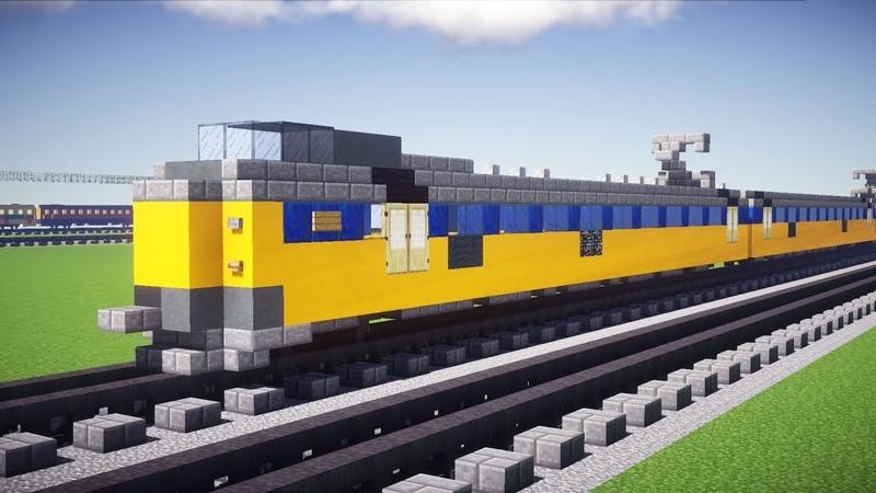 Minecraft Dutch NS ICM Koploper Train Tutorial