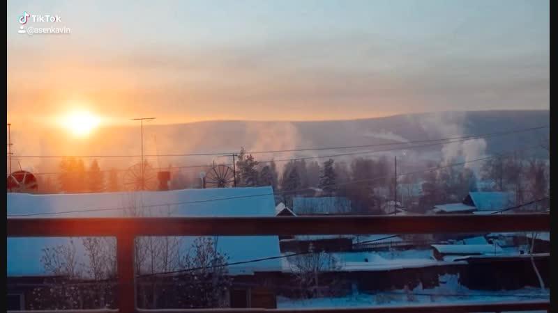 Алданский район , закат
