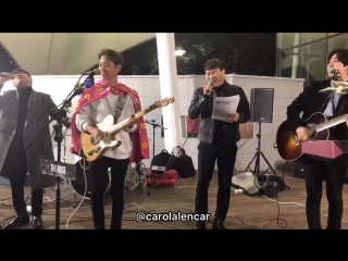 181010 The duo Vibe showed up and made a special performance with the boys! It was totally spontaneous, and they looked so so ha