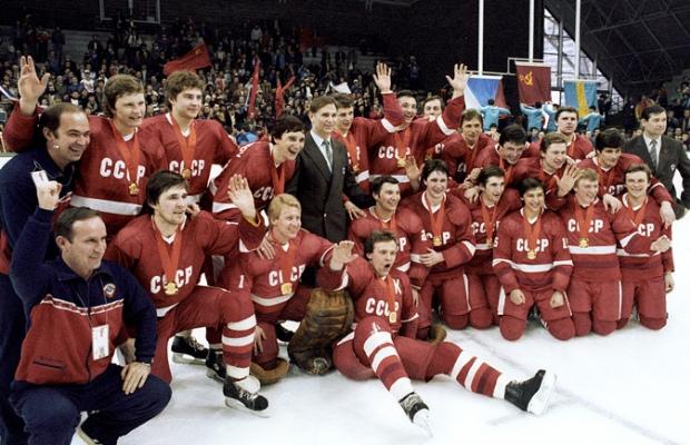 Сборная СССР по хоккею - чемпион ОИ 1984 в Сараево