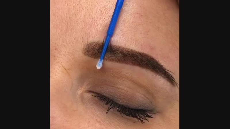 Перманентный макияж бровей, результат сразу после процедуры. бровикалугаперманенткалугакалуга24татуажкалугазаживчикикалуга
