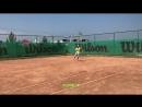 Тренировочный процесс у Матвеева Антона Александровича на грунтовых кортах теннисного центра «ZUBOVO».