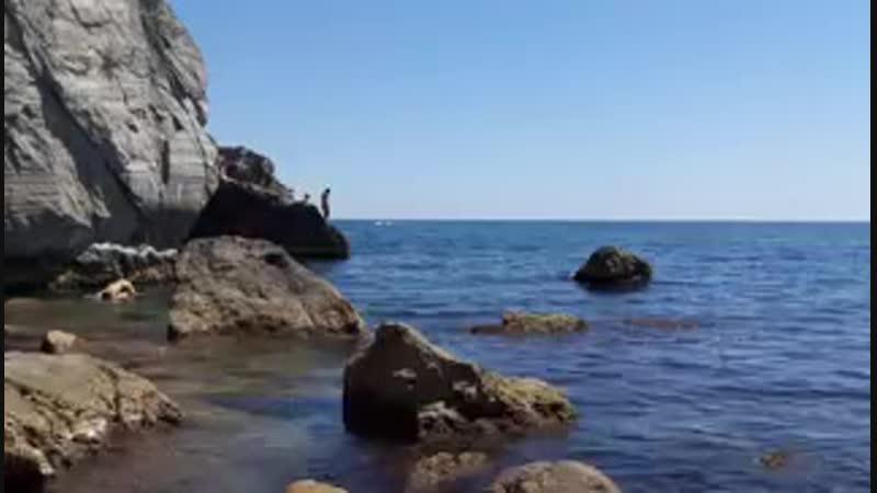 Гурзуф, пляж в Чеховской бухте