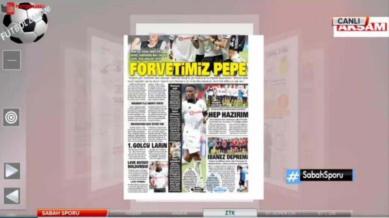 BEŞİKTAŞ Sabah Sporu - Uefa Avrupa Ligi, Sarpsborg Maçı, Larin, Pepe 20 Eylül 2018