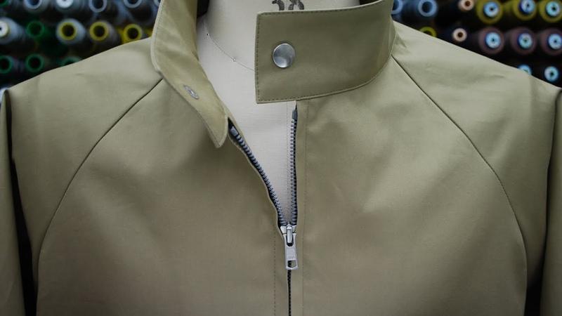 How to sew Separating Zipper not exposed Raglan sleeve Jacket オープンファスナーの縫い方 ムシ隠し ラグラン 34966