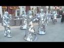 Mirror wearing Slovakian Dancers Perform on UAE Street