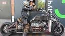 Самодельный мотоцикл с v8 GangRena Испытания в городе Custom bike with v8