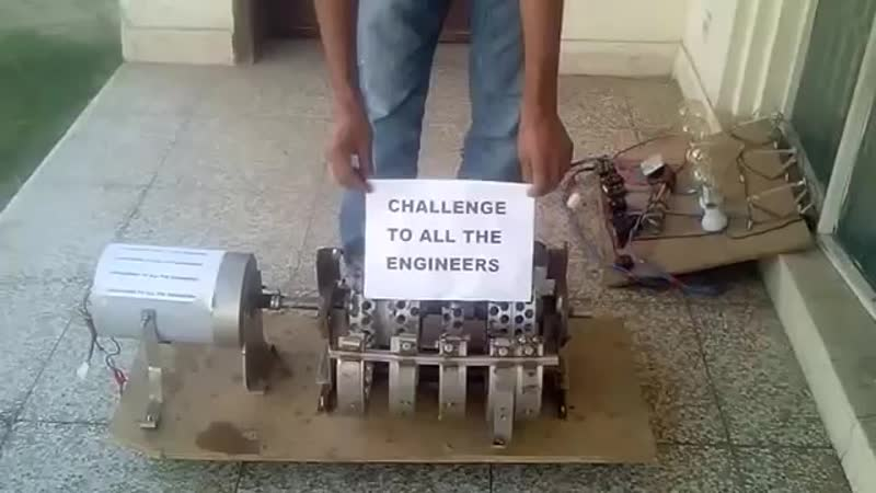 Pakistani Claims to Invent free Electric Generator Part 2.mp4