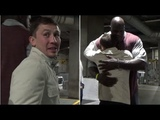 SHAQ ASKS GOLOVKIN FOR A SELFIE, SHOWS HIM MAD LOVE RIGHT AFTER WILDER VS FURY DRAW...
