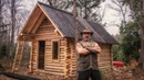 Человек в одиночку построил бревенчатый домик в Канаде