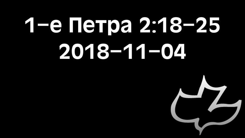 1-e Петра 2:18-25 (04.11.2018)