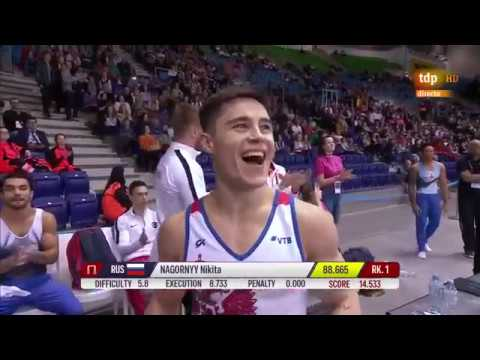 2019体操欧锦赛全能决赛 Nikita Nagornyy总分88.665分第一 190412