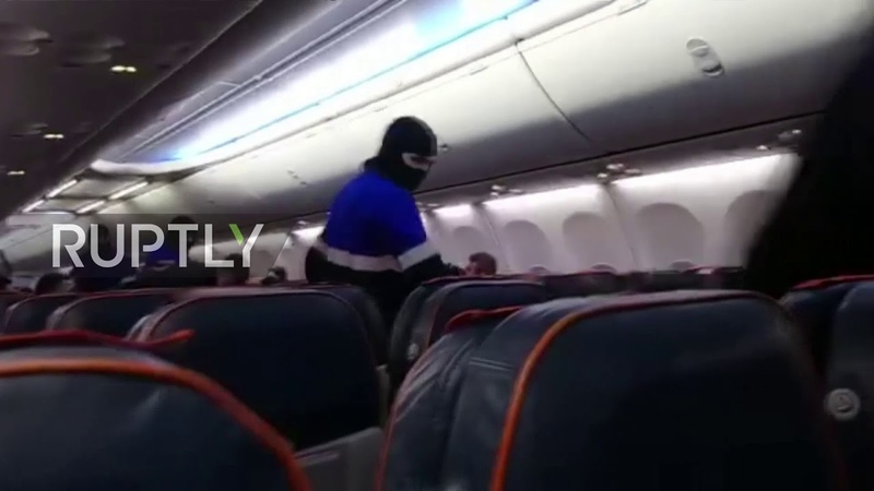 Russia Drunken would be hijacker of Aeroflot plane detained by police