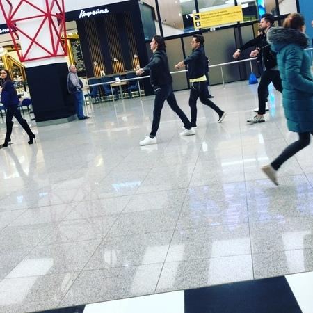 "Lucky Busta on Instagram ""Чудны дела твои, господи... svo sheremetyevo smth dancing moscow"""