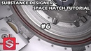 [Substance Designer] Space Hatch tutorial (part 6): Details duplicating and positioning (boring)