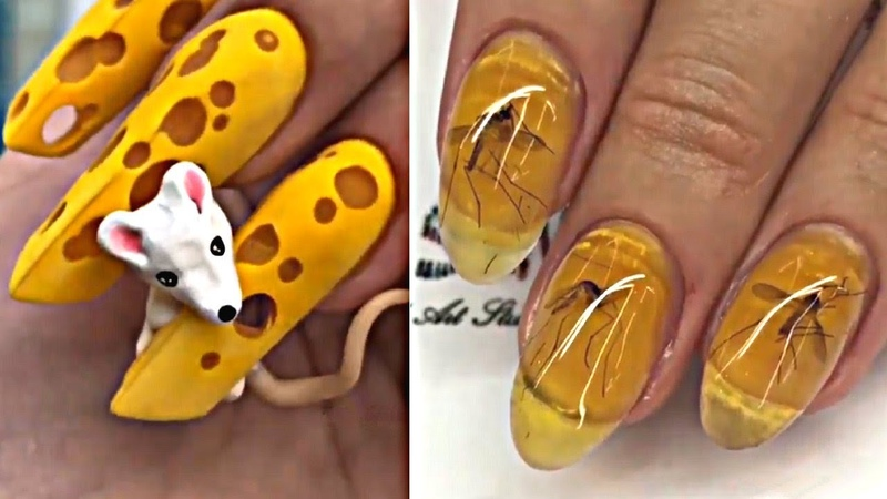 Insane Nail Art That Literally No One Asked Before 🙅 Wacky Nails Manicure Trends
