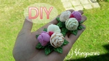 Самые простые цветы из фоамирана Канзаши DIY Hair ornaments