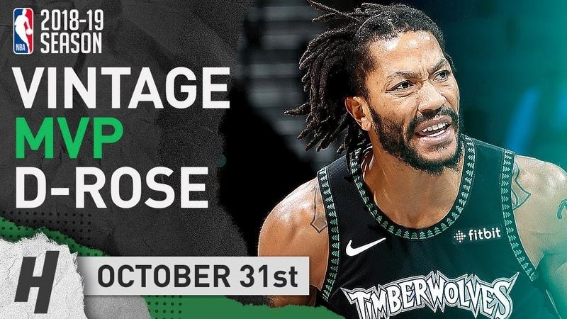 VINTAGE MVP Derrick Rose EPIC Highlights Wolves vs Jazz 2018.10.31 - 50 Points, CRAZY Career-HIGH!