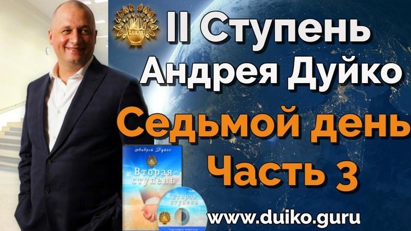 2 ступень 7 день 3 часть Андрея Дуйко Школа Кайлас 2015 Смотреть