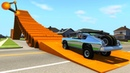 BeamNG.drive - Giant Pipes High Speed Crashes 4