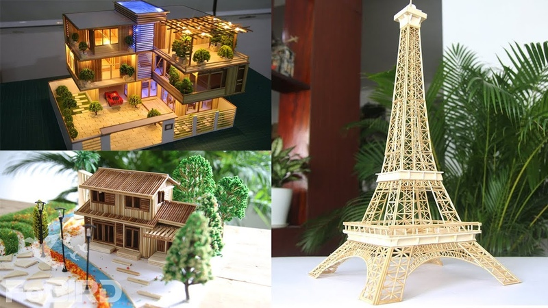 Top 3 Best Model Creations from Wooden sticks