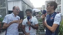 Robert Kubica George Russell join Karun for Williams TV in Mexico