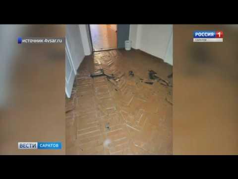 Протекающая крыша школы привела к разрухе в кабинетах в Базарном Карабулаке