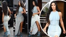 Kim Kardashian steps out with Kanye in Miami in skintight dress