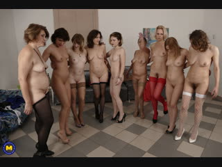 Nine horny women have a sex party and share one lucky guy  - http://www.vidz7.com