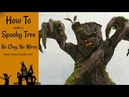 How To Make A Spooky Tree / No Clay Or Wires / Halloween Candy Bowl Built In