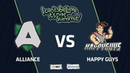 Alliance vs Happy Guys, Game 2, Group Stage, I Can't Believe It's Not Summit