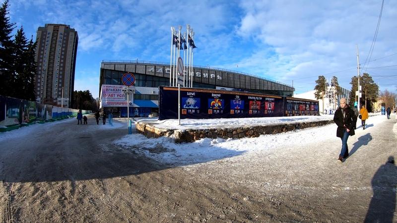4К Новосибирск Зимняя прогулка по улице Богдана Хмельницкого