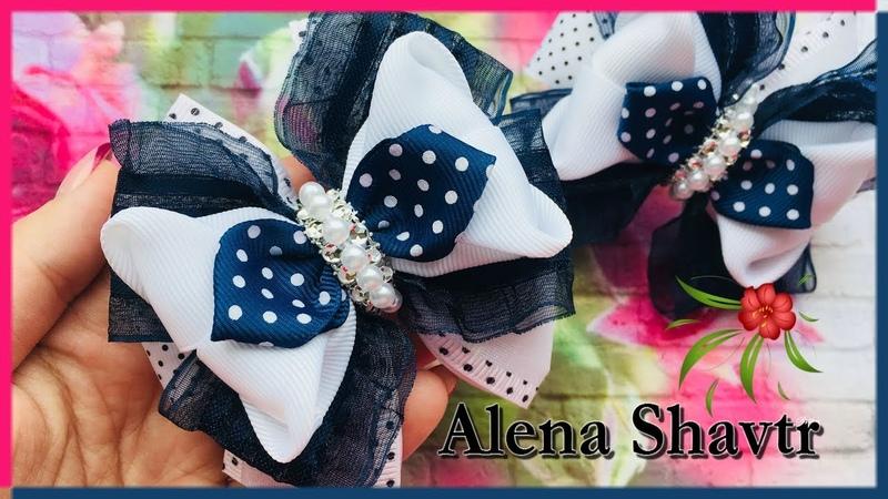 Бант из лент 4 и 2 5 см Laço de fita Ribbon bow Alena Shavtr