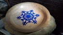 Woodturning a Snowflake Bowl Resin Art with Changing Colors