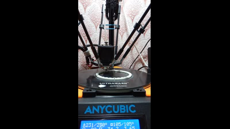 Anycubic Kossel печать №2