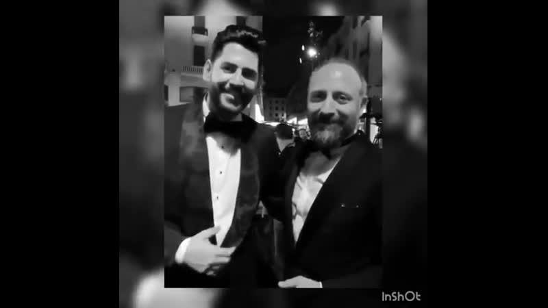 Халит Эргенч и Стергиос Либерис на церемонии вручения награды в Бейруте BIAF 2018 (29.06.2018 г.)
