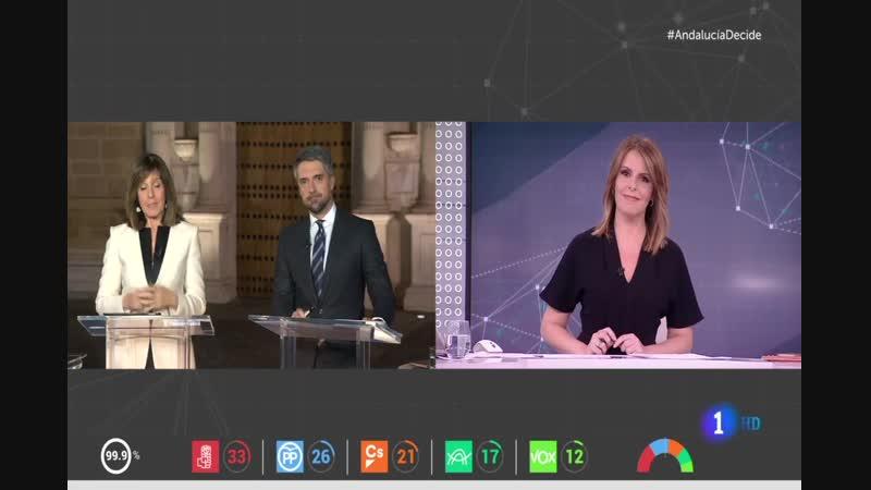 La 1 TVE Especial Elecciones Andalucía - Tertulia Jose Fernandez Albertos, Esther Jaén vlc-record-2018-12-02-23h52m50s_join