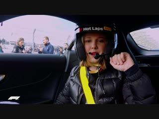 Millie bobby browns bobbin lap   f1 pirelli hot laps