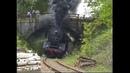 Dampfzug bleibt hängen in Rampe vor Hauzenberg am 12 5 2001