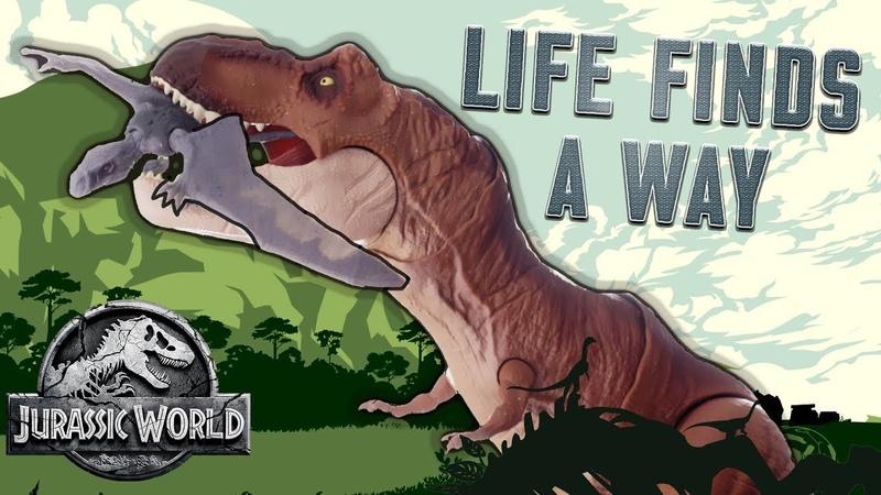 "Jurassic World Dinosaur Song ""Life Finds a Way"" - Official Lyric Video | Mattel Action!"