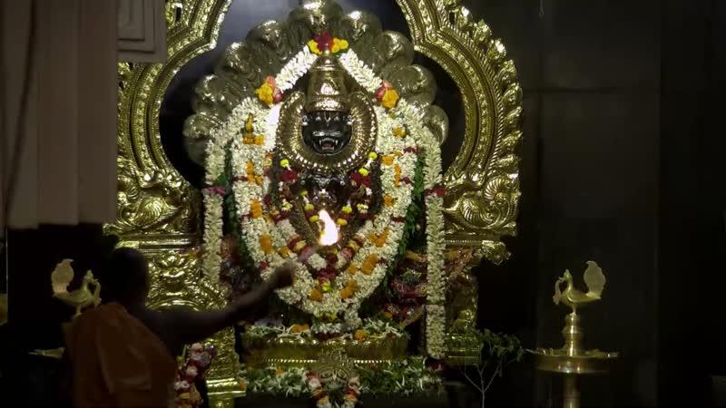 Мангала арати божеству Прахлад Нрисимхе. Маяпур. Индия. Namaste Narasimhaya