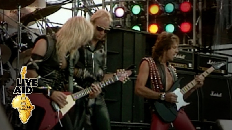 Judas Priest The Green Manalishi With The Two Pronged Crown Live Aid 1985
