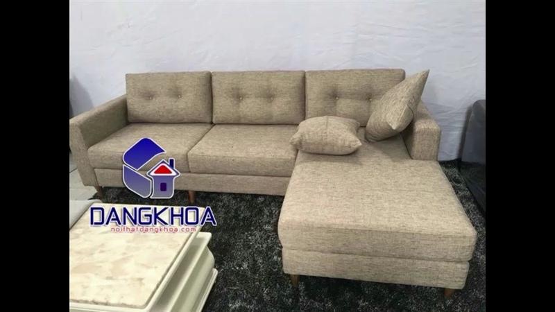 Sofa nỉ chữ L cho phòng khách chung cư nhỏ giá 4,8 triệu - nội thất Đăng Khoa