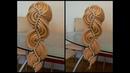 Коса Голливудская волна с бусинами Красивое плетение Вечерняя причёска Hair tutorial