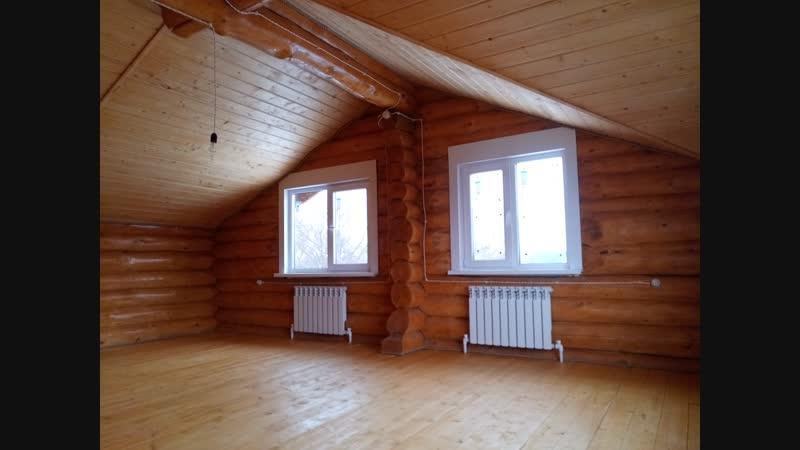 Дом из бревна под ключ 2 этаж